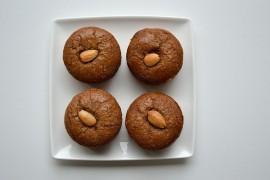 Muffinki z płatkami migdałów