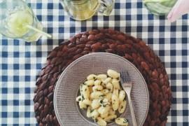 Gnocchi z pietruszką i serem żółtym