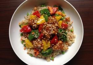 Ryż curry z mieszanką warzyw