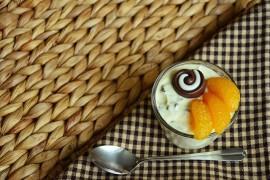 Mandarynkowy mus z kawałkami czekolady