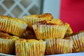 Muffiny z czerwonym winem