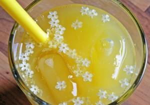 Letnia lemoniada z cytryną, miodem i kwiatami jadalnymi