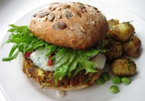 Zdrowe wegańskie burgery