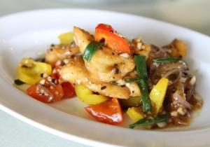 Ryba z warzywami w sosie orientalnym