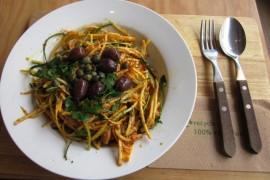 Spaghetti z oliwkami