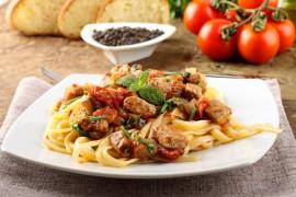 Spaghetti ze świeżym tuńczykiem!