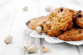 Ciasteczka pistacjowo-czekoladowe
