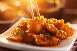 Kurczak w sezamie w sosie słodko-kwaśnym!