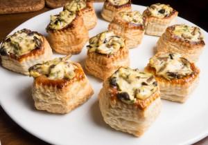 Tartaletki z pieczarkami i serem gorgonzolą