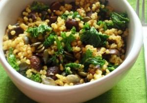 Zdrowy przepis – kasza gryczana z jarmużem i grzybami