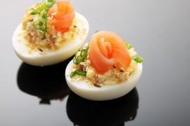 Jajka faszerowane bryndzą