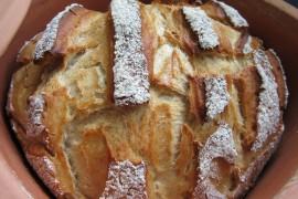 Chleb zapiekany z mozzarellą