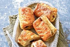 Ciasto francuskie z pieczarkami i serem- gotowe w 15 minut