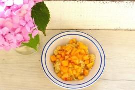 KASZA JAGLANA z brzoskwinią i masłem orzechowym – śniadanie w 15 minut