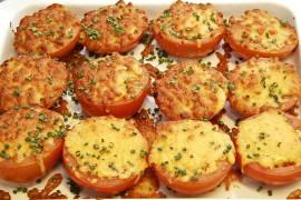 Pomidory zapiekane żółtym serem