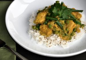 Kurczak curry z warzywami