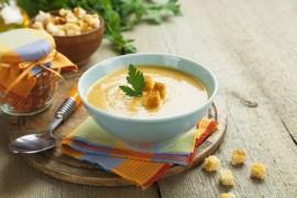 Kremowa zupa z ciecierzycy