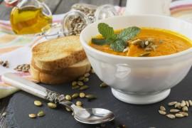 Zupa krem z dyni i ziemniaków + orzeźwiająca mięta