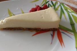 Sernik na zimno z białą czekoladą