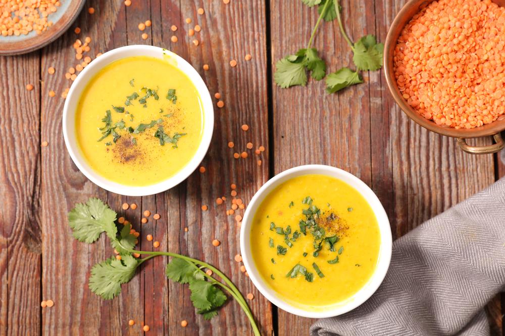 lentils soup with curcuma