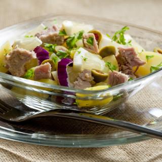 potato salad with tuna fish