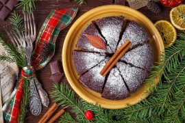 Ciasto cynamonowo- czekoladowe