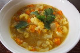 Zupa z soczewicy i kalafiora