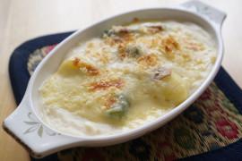 Sycąca zapiekanka: szynka + makaron + ser