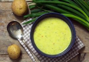 Kremowa zupa ze szczypiorku