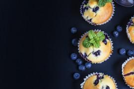 Bezglutenowe muffiny z owocami