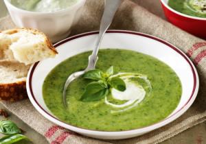 Zupa serowo- szpinakowa