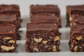 Blog czekoladowy z suszonymi śliwkami