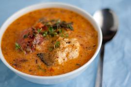 Zupa- krem z ryby z białym winem