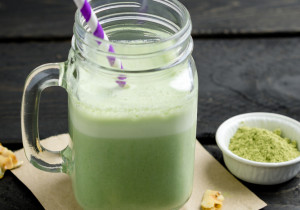 Zielone smoothie z herbatą matcha