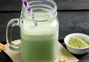Zielone smoothie z herbatą matcha