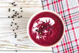 Zupa krem z pieczonym burakiem