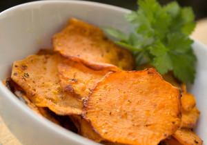 Chrupiące chipsy z batatów