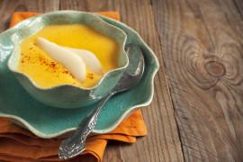 Kremowa zupa z gruszką i marchwią