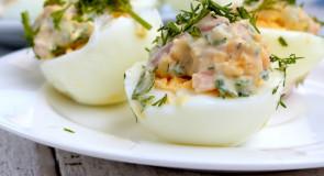 Chrzanowo- łososiowa pasta do faszerowania jaj na twardo