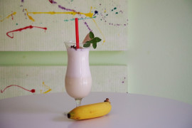 Milkshake z bananem