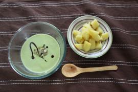 Zupa z groszu zielonego i pomarańczy