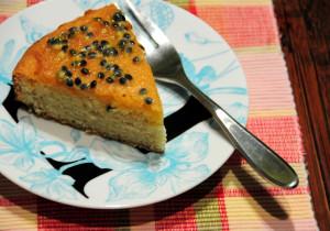 Proste ciasto z marakują i cytryną