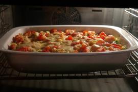 Chicken Tetrazzin- zapiekanka z kurczakiem, makaronem spaghetti