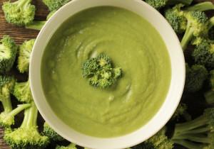 Zupa krem z brokuła i zielonego groszku