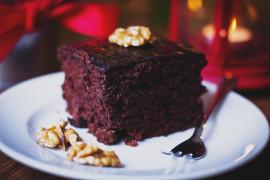 Ciasto MOCNO czekoladowe z orzechami pekan