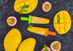 Lody wodne o smaku mango