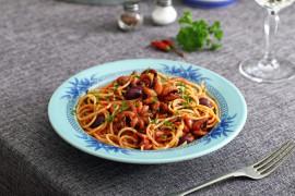 Spaghetti z ośmiorniczkami