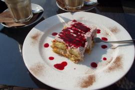 Błyskawiczne ciasto z malinami