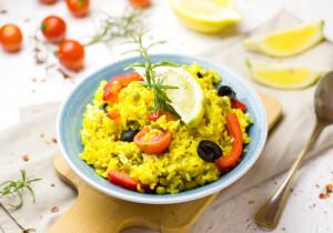 Jak zabarwić ryż na żółto?