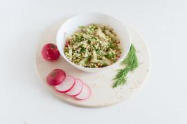 #tydzieńSAŁATKOWY – sałatka z makaronem, kiełkami i koperkiem
